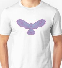 Flying Nocturnal Owl In Mosaic Art  Unisex T-Shirt