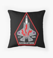 F-35 Lightning II No. 617 SQN - Dambusters (RAF) - Clean Style Throw Pillow