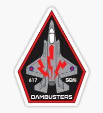 F-35 Lightning II No. 617 SQN - Dambusters (RAF) - Clean Style Sticker