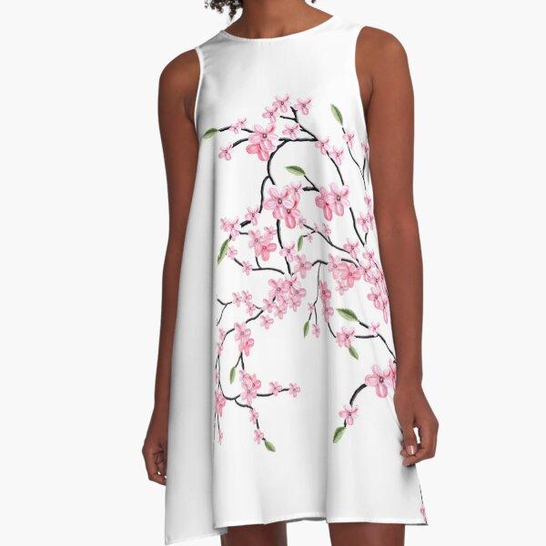 Cherry Blossom A-Line Dress