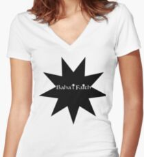 Baha'i Faith Women's Fitted V-Neck T-Shirt