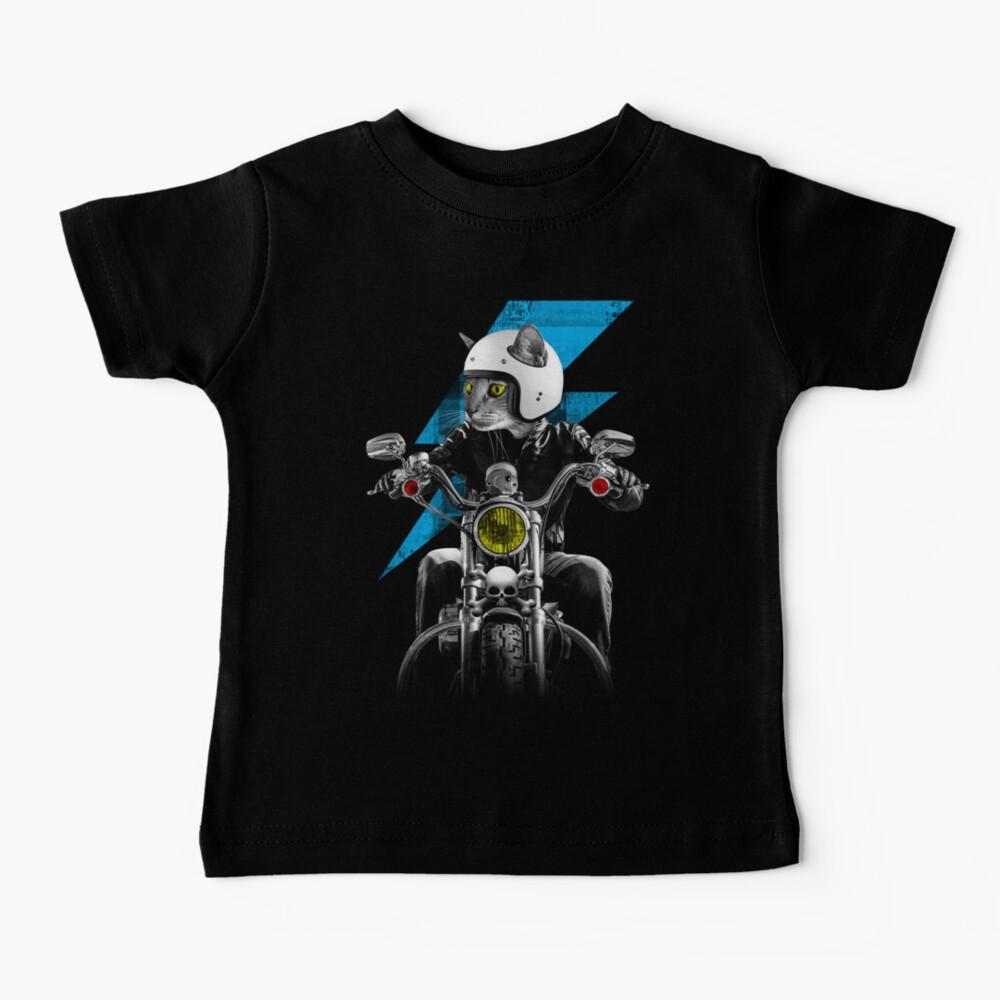 Biker Cat Baby T-Shirt