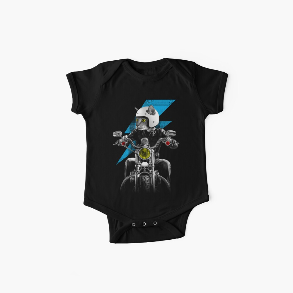 Biker Cat Baby One-Piece