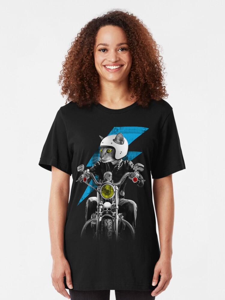 Alternate view of Biker Cat Slim Fit T-Shirt