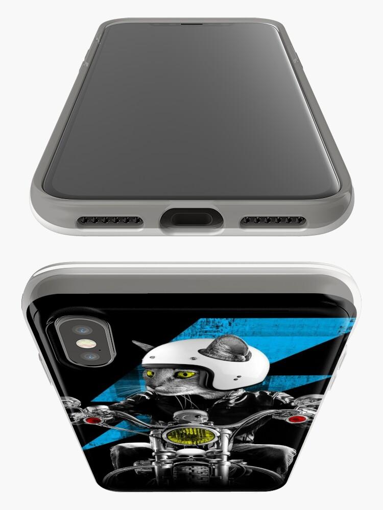 Alternate view of Biker Cat iPhone Case & Cover
