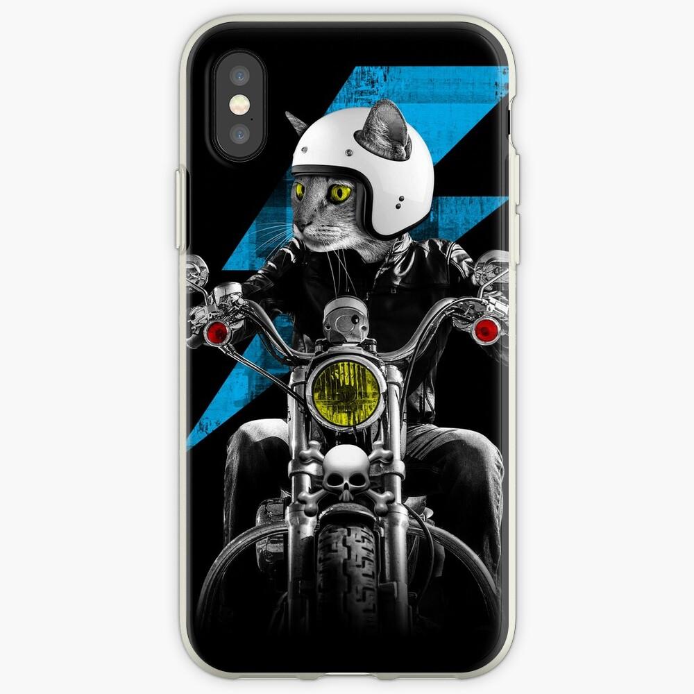 Biker Cat iPhone Case & Cover