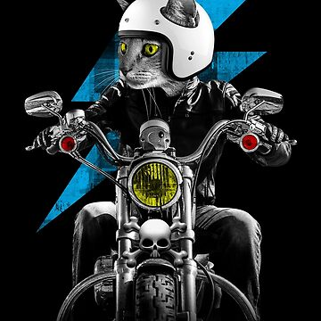 Biker Cat by JoeConde