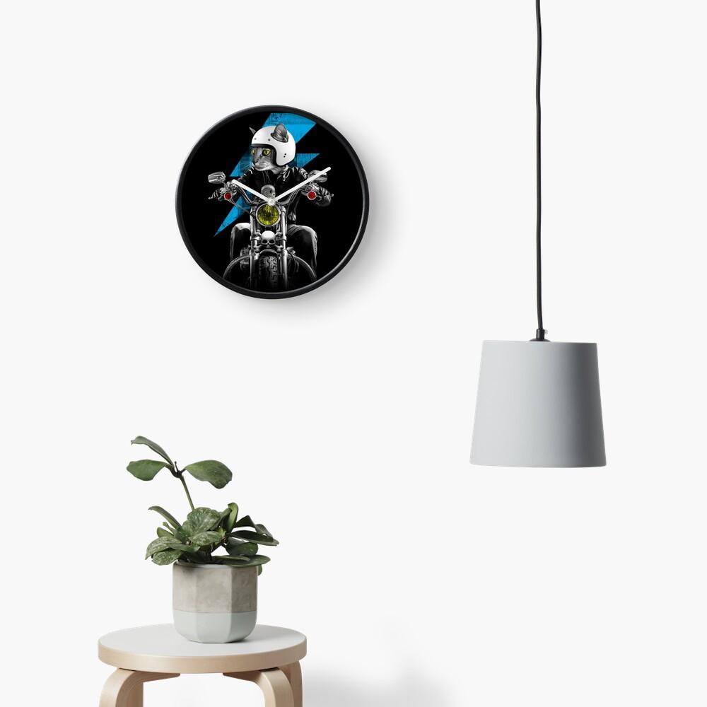 Biker Cat Clock