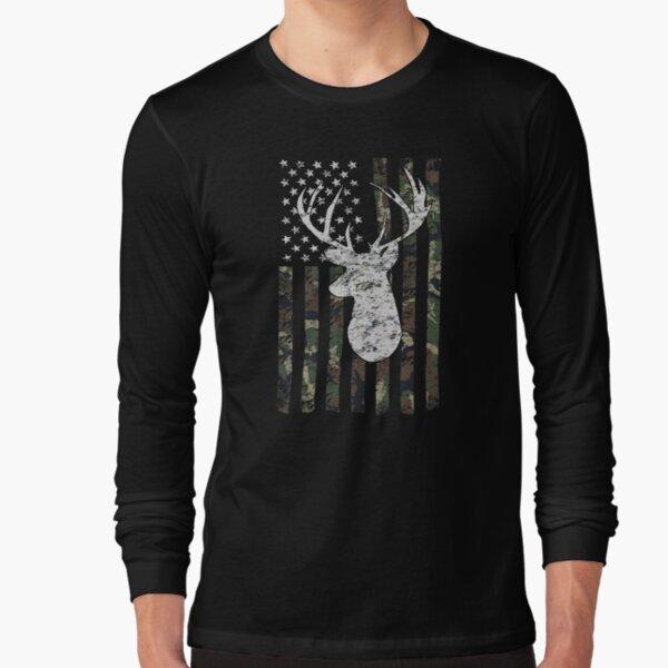 Camouflage Flag Deer Hunting  Long Sleeve T-Shirt
