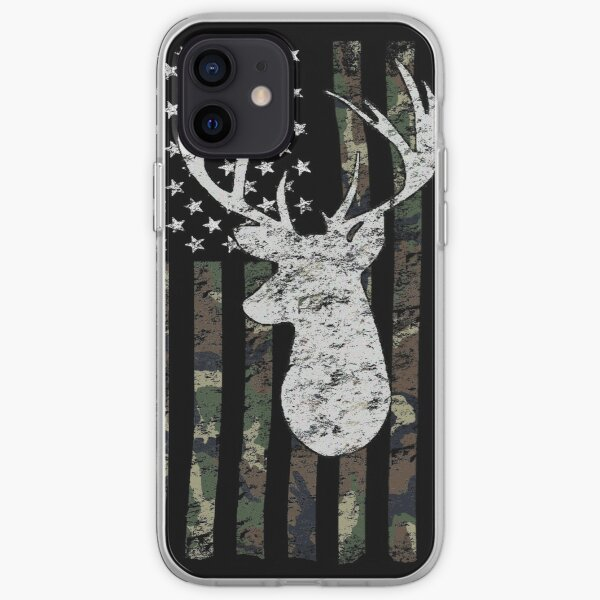 Camouflage Flag Deer Hunting  iPhone Soft Case