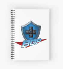 BGP Logo: Letters Only With Shield Spiral Notebook