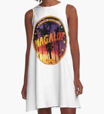 Magaluf, Magaluf t shirt, Magaluf sticker, Spain, with palmtrees A-Line Dress