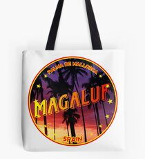 Magaluf, Magaluf t shirt, Magaluf sticker, Spain, with palmtrees Tote Bag