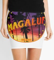 Magaluf, Magaluf t shirt, Magaluf sticker, Spain, with palmtrees Mini Skirt