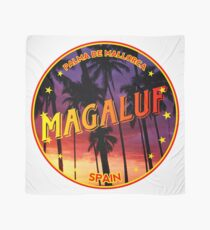 Magaluf, Magaluf t shirt, Magaluf sticker, Spain, with palmtrees Scarf
