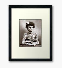 Lámina enmarcada Señora tatuada, 1907. Foto de época