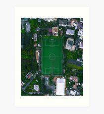 Soccer Field in Sorrento Italy Art Print