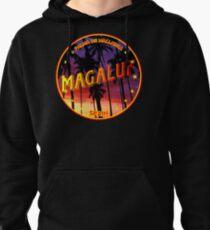 Magaluf, Magaluf tshirt, Magaluf sticker, Spain, with palmtrees, black bg Pullover Hoodie