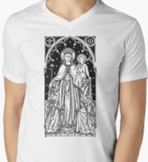 Child Jesus and Mary Men's V-Neck T-Shirt