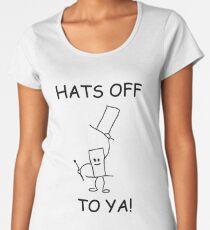 Hats Off To Ya! Women's Premium T-Shirt