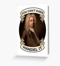 Handel Pun Greeting Card