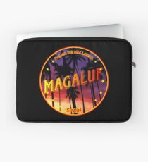 Magaluf, Magaluf tshirt, Magaluf sticker, Spain, with palmtrees, black bg Laptop Sleeve
