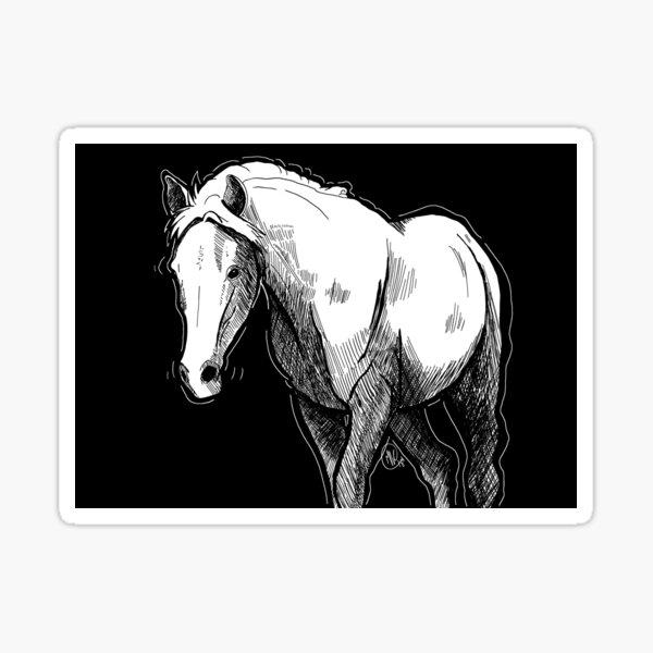 Equine Crosshatch Sticker