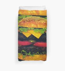 Double Deluxe Hamburger with Cheese Duvet Cover