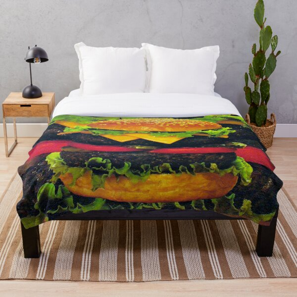 Double Deluxe Hamburger with Cheese, RBSSG Throw Blanket
