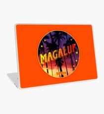 Magaluf, Magaluf poster, tshirt, Spain, with palmtrees, orange bg Laptop Skin