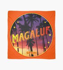 Magaluf, Magaluf poster, tshirt, Spain, with palmtrees, orange bg Scarf