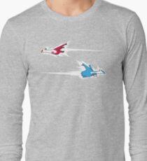 Latios & Latias crossing paths Long Sleeve T-Shirt