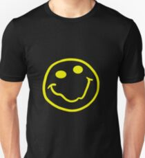 Nirvana style smiley face yellow Unisex T-Shirt