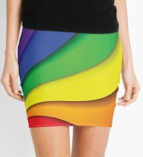 RAINBOW SWIRL Pop Art Mini Skirt
