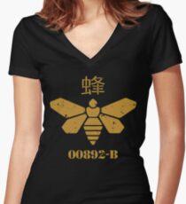 Methylamine Bee Breaking Bad Women's Fitted V-Neck T-Shirt