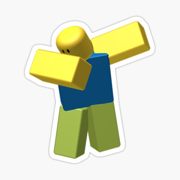 Dabbing Noob, Roblox Meme Sticker
