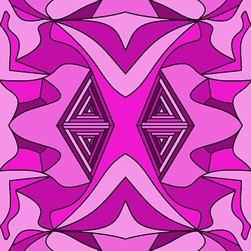 Pink Purple Fuchsia Abstract Seamless Repeating Pattern   by EverhartArt