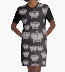 Crown Pattern Graphic T-Shirt Dress