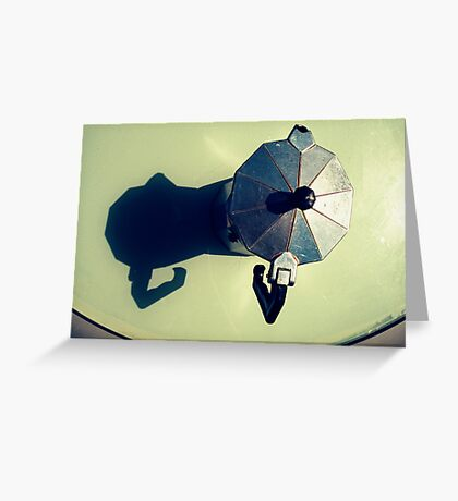 Pot Calling The Shadow Black Greeting Card