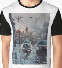 Streetscape watercolor Graphic T-Shirt