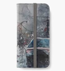 Streetscape watercolor iPhone Wallet/Case/Skin