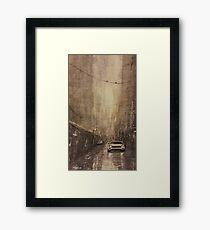 Wet street - Watercolor Framed Print