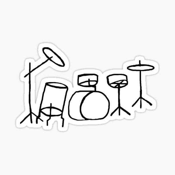 Drum Set Sticker