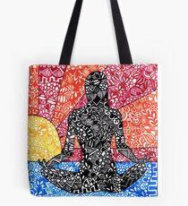 Meditation Sunset Tote Bag