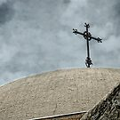 Mission Cross on Dome by Colleen Drew