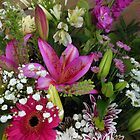 Predominantly Pink - Sunlit Floral Display by VoxCeleste
