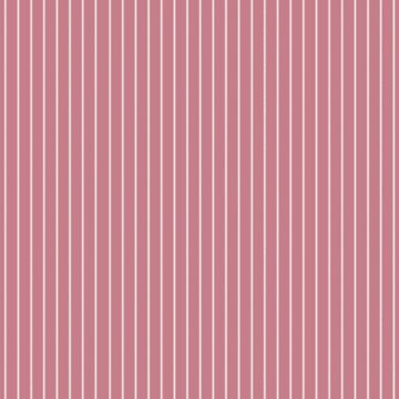 White Pinstripes on Rose Pink Background by Greenbaby
