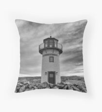Old lighthouse facing the sea Floor Pillow
