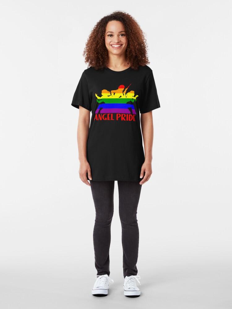 Alternate view of Angel PRIDE  Slim Fit T-Shirt