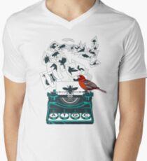 Alphabet des Lebens T-Shirt mit V-Ausschnitt für Männer